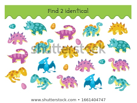 find two identical monsters game for kids Stock photo © izakowski