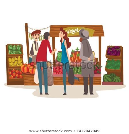 фермер · продукции · икона · вектора · человека - Сток-фото © robuart
