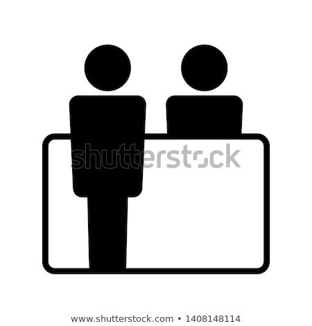 служба · при · столе · икона · стены · мебель - Сток-фото © angelp