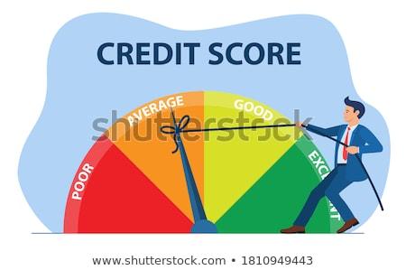 Crédito puntuación persona flecha financieros rendimiento Foto stock © Lightsource