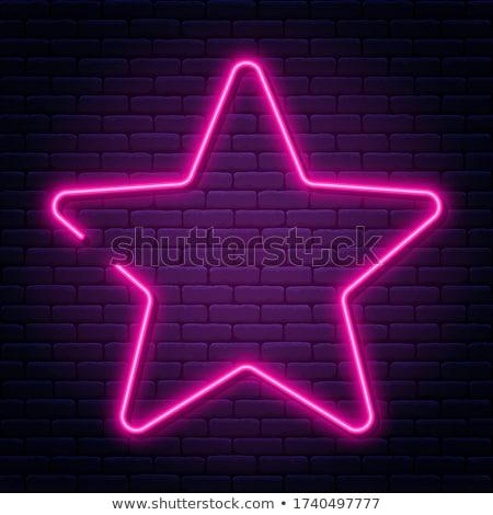 Red Neon Star Shape Stock photo © Voysla