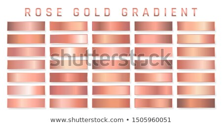 Collection of bronze metallic gradient. Brilliant plates with bronze effect. Vector illustration Stock photo © olehsvetiukha