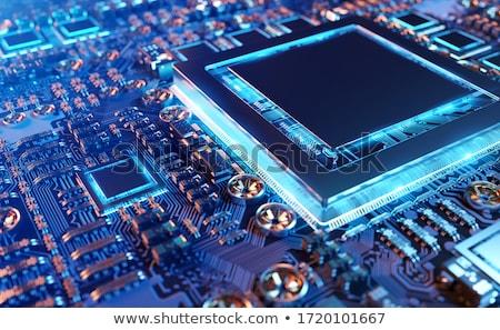 Számítógép elektronikus áramkör technológia háttér fém Stock fotó © nomadsoul1
