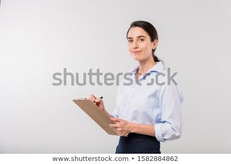 Genç gülen işkadını notlar planlama Stok fotoğraf © pressmaster