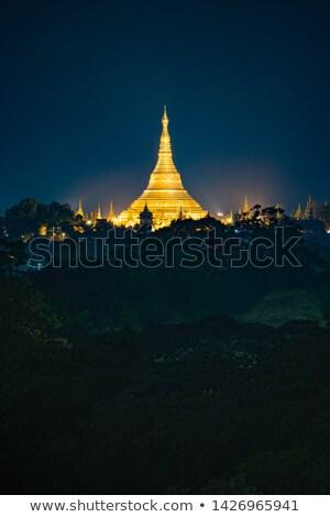 Pagodas at Night Stock photo © craig
