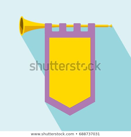 Trumpet with banner Stock photo © montego