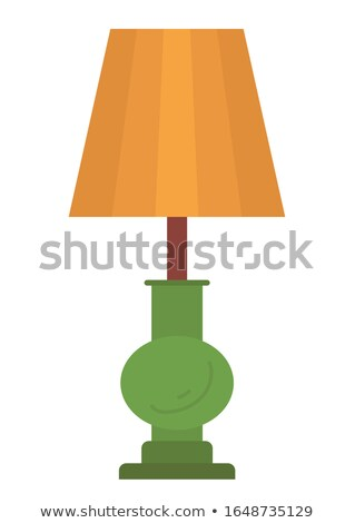 Retro Floor Lamp with Brown Lampshade and Stand Stock photo © robuart