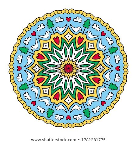 Colorido bonitinho decorativo incomum flor Foto stock © Natalia_1947