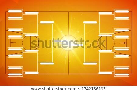 Toernooi sjabloon 16 teams oranje basketbal Stockfoto © evgeny89