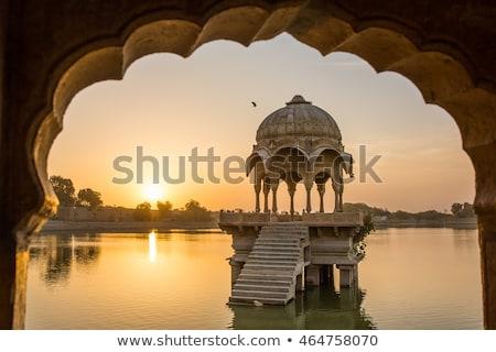 人工的な 湖 インド 水 古代 観光 ストックフォト © dmitry_rukhlenko
