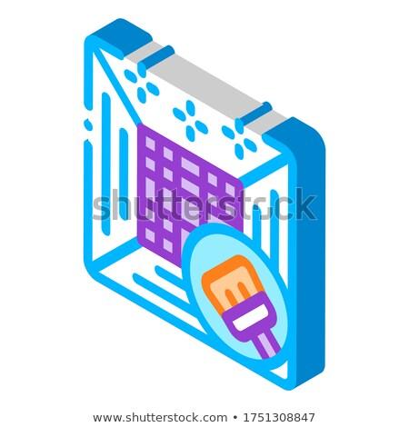Clima limpieza icono vector signo Foto stock © pikepicture