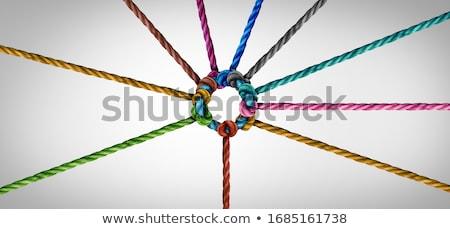 Stok fotoğraf: Güçlü · bağlantı · 3d · render · zincir · kırmızı