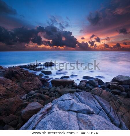 Amazing sunset. Ultra-wide angle, long exposure shot. Stock photo © moses