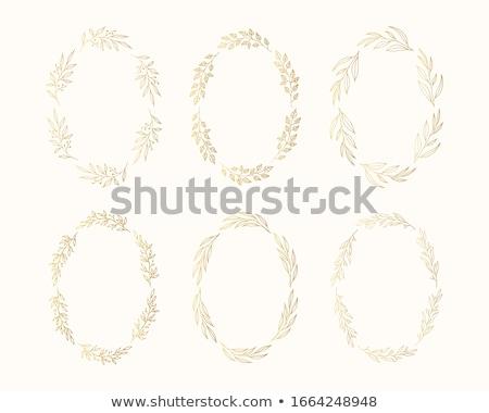 oval foliage background  Stock photo © orson