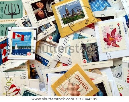 Foto stock: Alcance · selos · Canadá · papel · textura · vidro