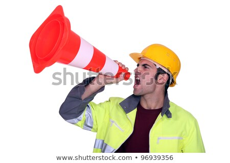 manual worker shouting through cone stock photo © photography33