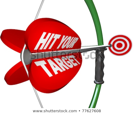 Stock photo: Aiming at Your Target - Bow and Arrow Focus on Bulls-Eye