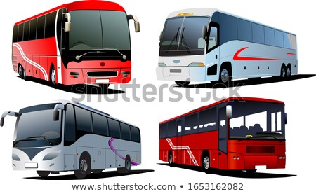 Four city buses. Coach. Vector illustration Stock photo © leonido