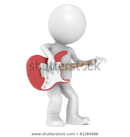 3D Little Human Character and his Strat Stock photo © JohanH