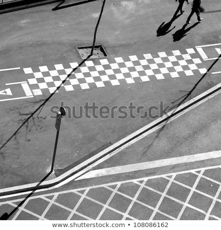 город асфальт линия тень Барселона Сток-фото © lunamarina