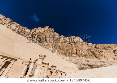 Säule Tempel Ägypten Kunst Wissenschaft Stock foto © Aikon