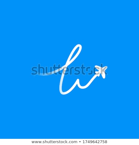 airplane with path l Stock photo © ssuaphoto
