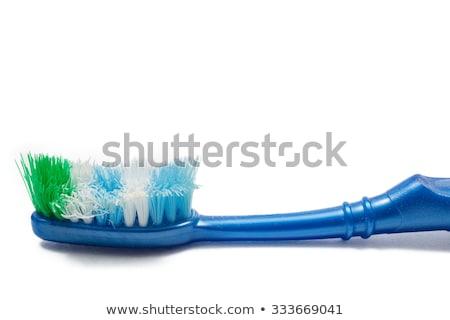 マクロ ショット 歯 ブラシ 髪 ホーム ストックフォト © haiderazim