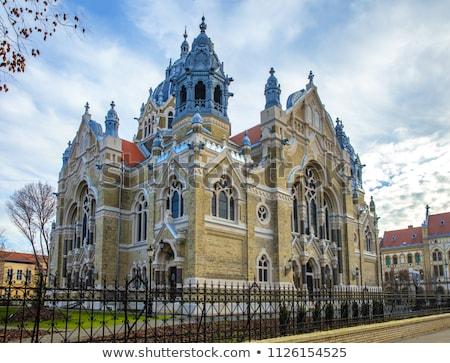 Nieuwe synagoge Hongarije stad architectuur gebed Stockfoto © jakatics
