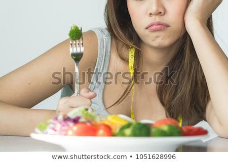 Infeliz mulher pratos cozinha água casa Foto stock © wavebreak_media