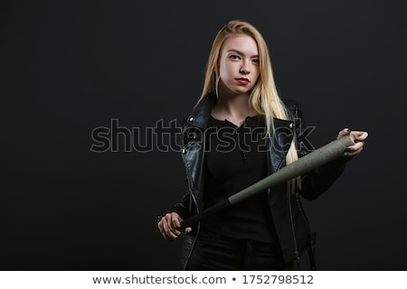 pretty young lady with a bat stock photo © acidgrey