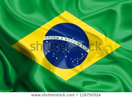 Stok fotoğraf: Kumaş · doku · bayrak · Brezilya · mavi · yay