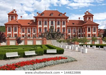 bahçe · Prag · kale · Çek · Cumhuriyeti · Bina · seyahat - stok fotoğraf © jonnysek