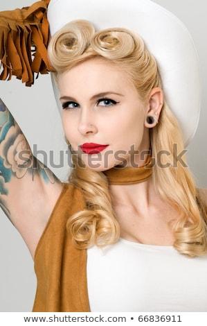 美しい ピンナップ モデル 頭 ショット 幸せ ストックフォト © arturkurjan