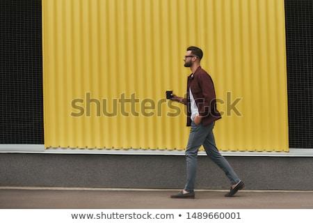 lezser · férfi · kamerába · teljes · alakos · portré · fiatal - stock fotó © feedough
