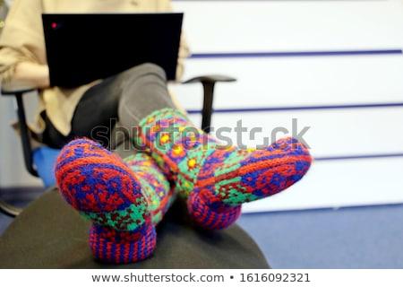 Freezing legs in colorful socks Stock photo © Lighthunter
