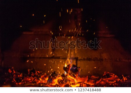 Fireplace with sparks Stock photo © REDPIXEL