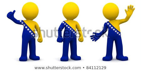 personas · bandera · Bosnia · Herzegovina · aislado · blanco · multitud - foto stock © kirill_m