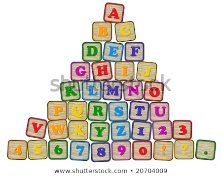 Number 1 - Childrens Alphabet Block. Stock photo © tashatuvango