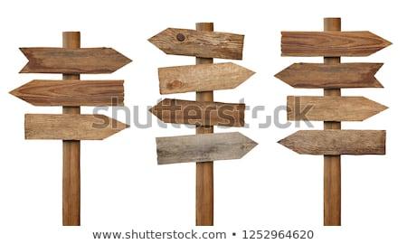 bois · panneau · flèche · arbre · signe - photo stock © stevanovicigor