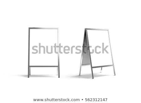 Blank menu sign Stock photo © c-foto