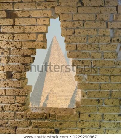Egipcjanin starożytnych budynku Egipt piramidy krajobraz Zdjęcia stock © ssuaphoto