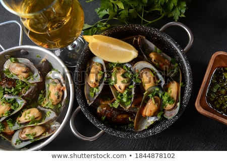 mussel and fries Stock photo © M-studio
