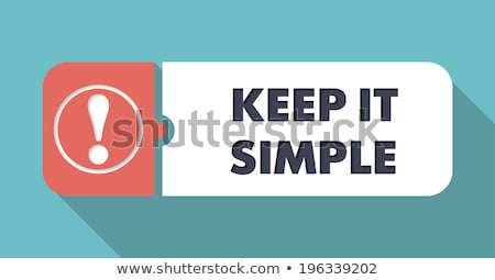 Keep It Simple on Scarlet in Flat Design. Stock photo © tashatuvango