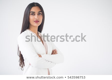 Confident Indian young woman standing with arms crossed Stock photo © bmonteny