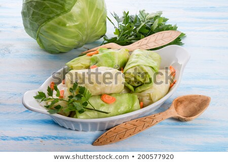 braised cabbage leaves wrapped rolls Stock photo © Peredniankina