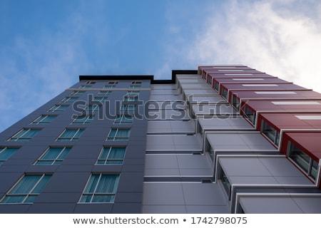 Grigio costruzione noioso full frame città blu Foto d'archivio © gemenacom