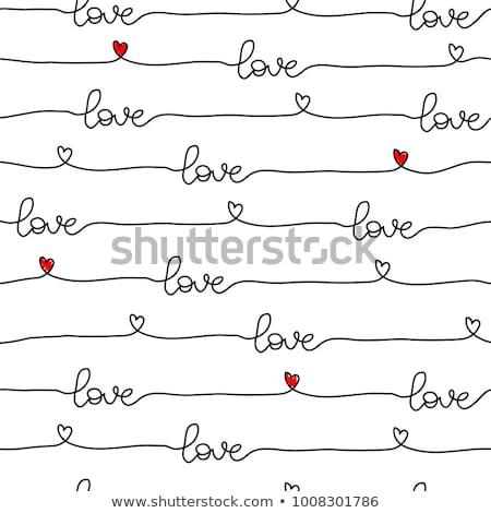 バレンタインデー · 心 · タイル · 紙 · ファッション - ストックフォト © karandaev
