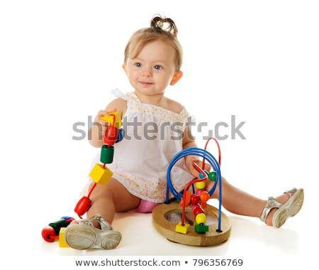 Jeunes petite fille blanche isolé visage fond Photo stock © tamasvargyasi