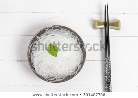 Dried mung bean thick vermicelli noodles Stock photo © ozgur