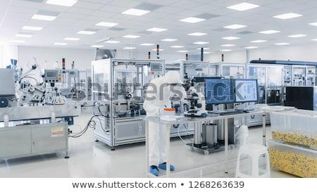 Industrie pharmaceutique pourpre médicaux pilules production ligne Photo stock © gemenacom